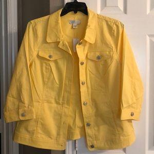 Christopher & Banks bright yellow jacket - Large
